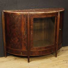 dutch art deco sideboard in mahogany wood with marble top from