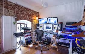 interior wooden wall home music studio design plans with small