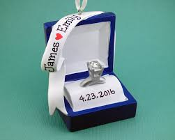 engagement ring personalized ornament ring box she said
