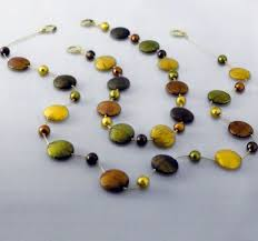 bead necklace gold images Multicolor and gold flat murano glass bead necklace murano glass jpeg
