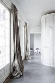 Light Linen Curtains Extra Long Hanging Linen Curtains Add A Softness To A Minimal