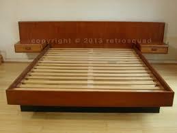 elegant platform bed with floating nightstands best bedroom