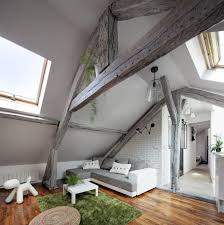 60sqm To Sqft by 60 Sqm Modern Attic Apartment Design Idea With White Grey Interior