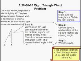 how to solve a 30 60 90 triangle word problem youtube