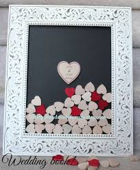 wedding guest book picture frame drop box frame guestbook wedding guestbook white drop box