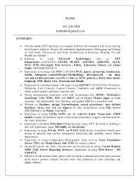 Sample Net Resumes For Experienced by Karthik Net Resume