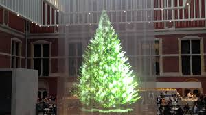 7 meter hologram christmas tree rijksmuseum amsterdam youtube