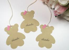teddy bear baby shower favor tags baby shower thank you