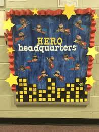 superhero bulletin board leader in me classroom ideas