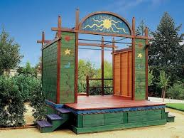 Backyard Play Structure by Barbara Butler Theaters Extraordinary Play Structures For Kids
