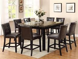 Bruce  Piece Counter Height Dining Set In Espresso Finish By - Dining room table sets counter height