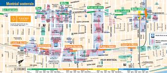 Map Montreal Canada by Montreal Underground City Map Montreal Travel Guide