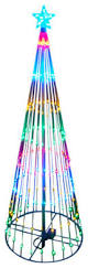 Lighted Yard Decorations Led Light Show Cone Christmas Tree Lighted Yard Art Decoration