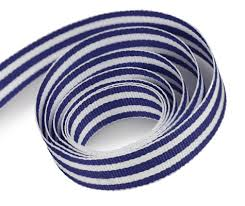 white blue ribbon white navy striped ribbon finerribbon