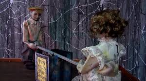 see saw dolls playground animated halloween prop hauntersdepot com