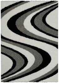 Orange Area Rug With White Swirls Amazon Com Soft Shag Area Rug 5x7 Swirl Striped Black Grey Shaggy