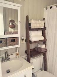 small bathroom shelf ideas rustic bathroom storage the toilet ladder shelf choose finish