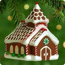 2000 gingerbread church hallmark ornament at hooked on ornaments
