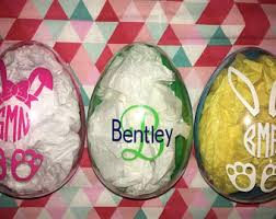 personalized easter eggs plastic easter etsy
