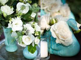 Tiffany Blue Vase Aqua Flowers And Tablescapes Elizabeth Anne Designs The Wedding