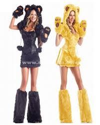 Halloween Cat Costumes Women Black Yellow Teddy Bear Costume Women Halloween Animal