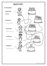 109 free esl age worksheets