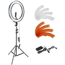 neewer led ring light neewer 18 inch outer dimmable smd led ring light lighting kit with