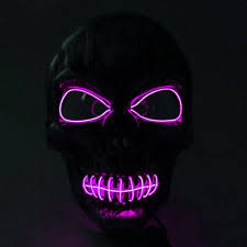 Led Light Halloween Costume Pink Costume Eye Masks Ebay