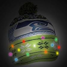 seahawks light up sign officially licensed nfl light up beanie by forever collectibles