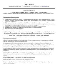 director of operations resume click here to this facilities manager resume template