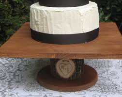 rustic cake stand wedding cake stand rustic wedding