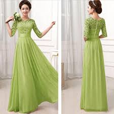 light green dress with sleeves amazon com gbsell women lady long lace evening party prom