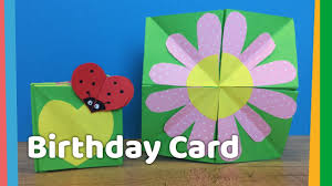 diy creative birthday card idea for kids very easy to make at