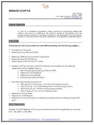 Mba Sample Resume For Freshers Finance by Resume Format For Freshers Chartered Accountants