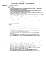 sle resume for digital journalism conferences 2016 account coordinator resume sles velvet jobs