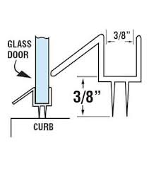 Shower Door Drip Wgsonline Clear Shower Door Drip Rail And Wipe Seal For 3 8