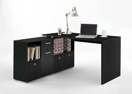 Schreibtisch 100 X 70 Fmd Möbel Lex Schreibtisch Winkelkombination Holz Schwarz 136 X