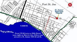 port st fl map st episcopal church port st joe florida fl