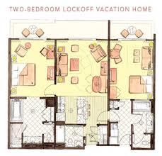 Two Bedroom Floor Plans 2 Bedroom Floor Plan Jambo Vs Kidani The Dis Disney Discussion