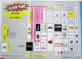 layout floor plan for singapore toy games and comic convention
