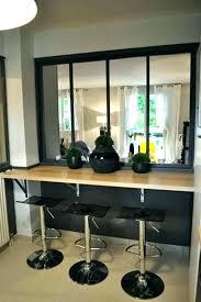 cuisine ouverte avec bar sur salon bar de separation cuisine salon cuisine semi ouverte sur salon et