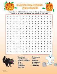 halloween word search zoobookoo