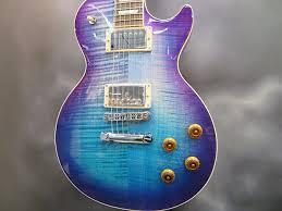 light blue gibson les paul gear les paul standard ngd guitar