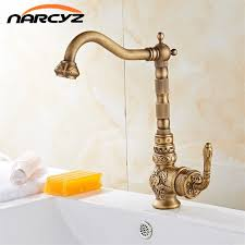retro kitchen faucet retro style antique brass kitchen faucet cold and hot water mixer