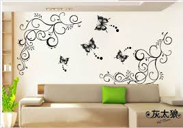 butterfly home decor wall stickers large retro personalized