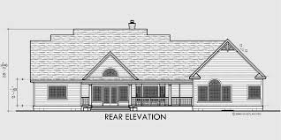house front drawing elevation view for 10088 colonial house plans