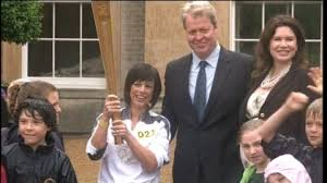karen spencer the olympic flame at althorp house central itv news