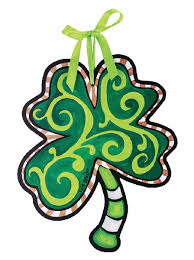 4 leaf clover ornament wall decor frosty st