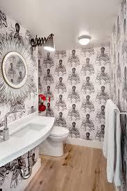 designer bathroom wallpaper interiors modern bathroom bandw octopus wallpaper