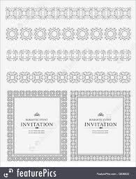 ornamental lines and frames illustration